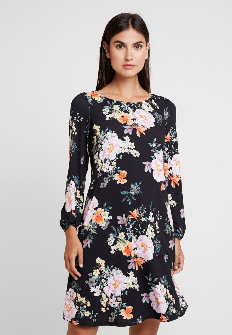 Wallis - ORIENTAL SWING DRESS - Jerseykleid - black