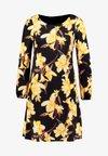 Wallis - FLORAL SWING DRESS - Vestido informal - black
