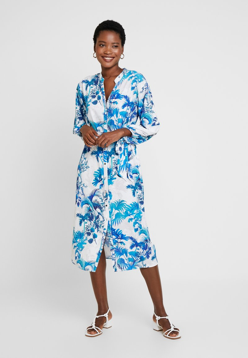 Wallis - SHADOW FERN DRESS - Vestido camisero - ivory