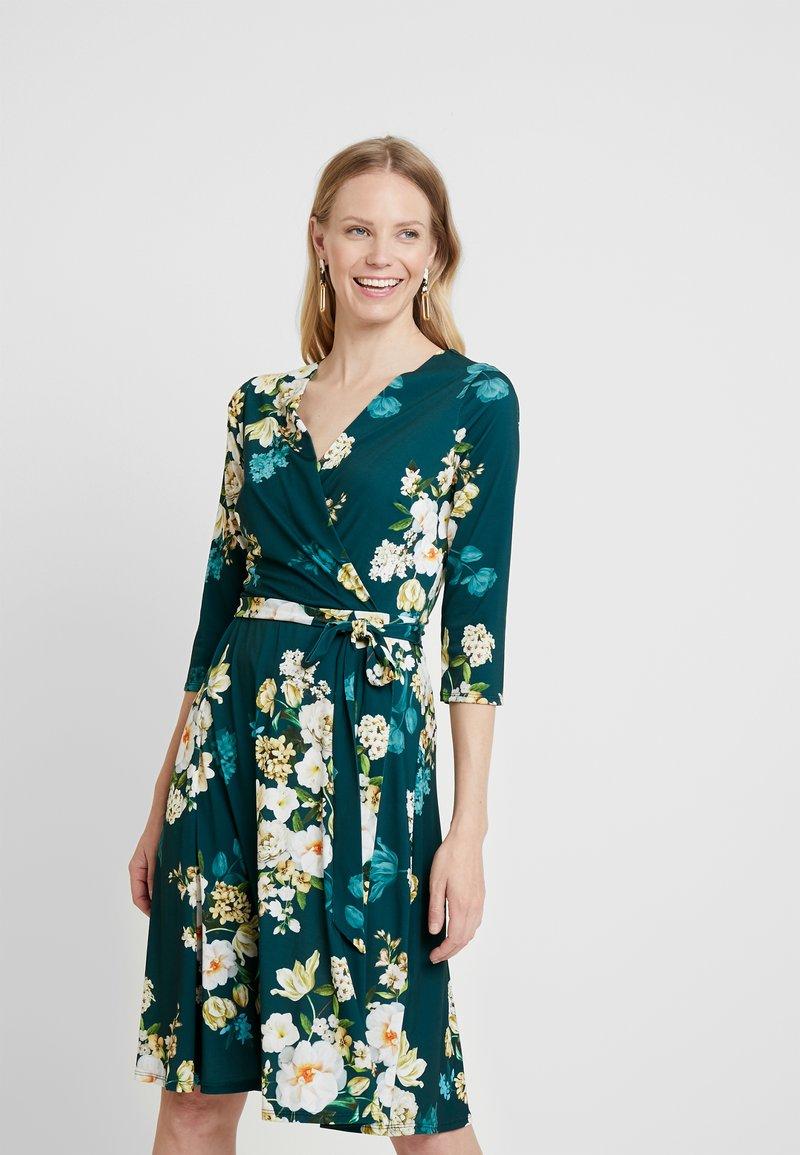 Wallis - WINTER BOUQUET DRESS - Jerseykleid - forest green