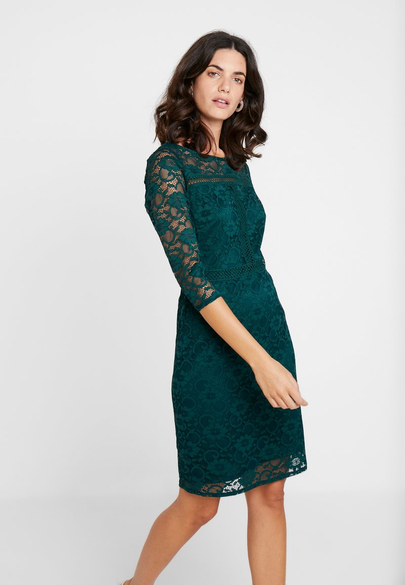 Wallis - INSERT SLEEVE DRESS - Etuikleid - forest green