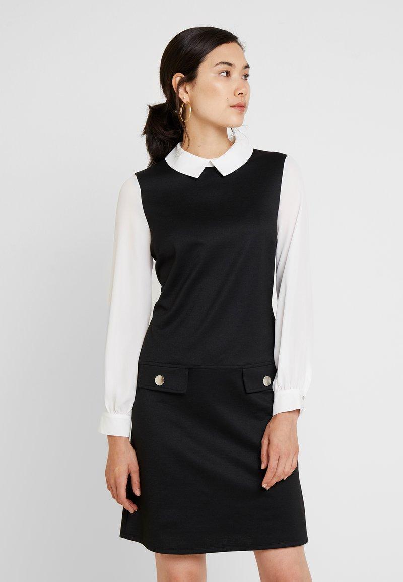 Wallis - COLLAR 2 IN 1 DRESS - Day dress - black