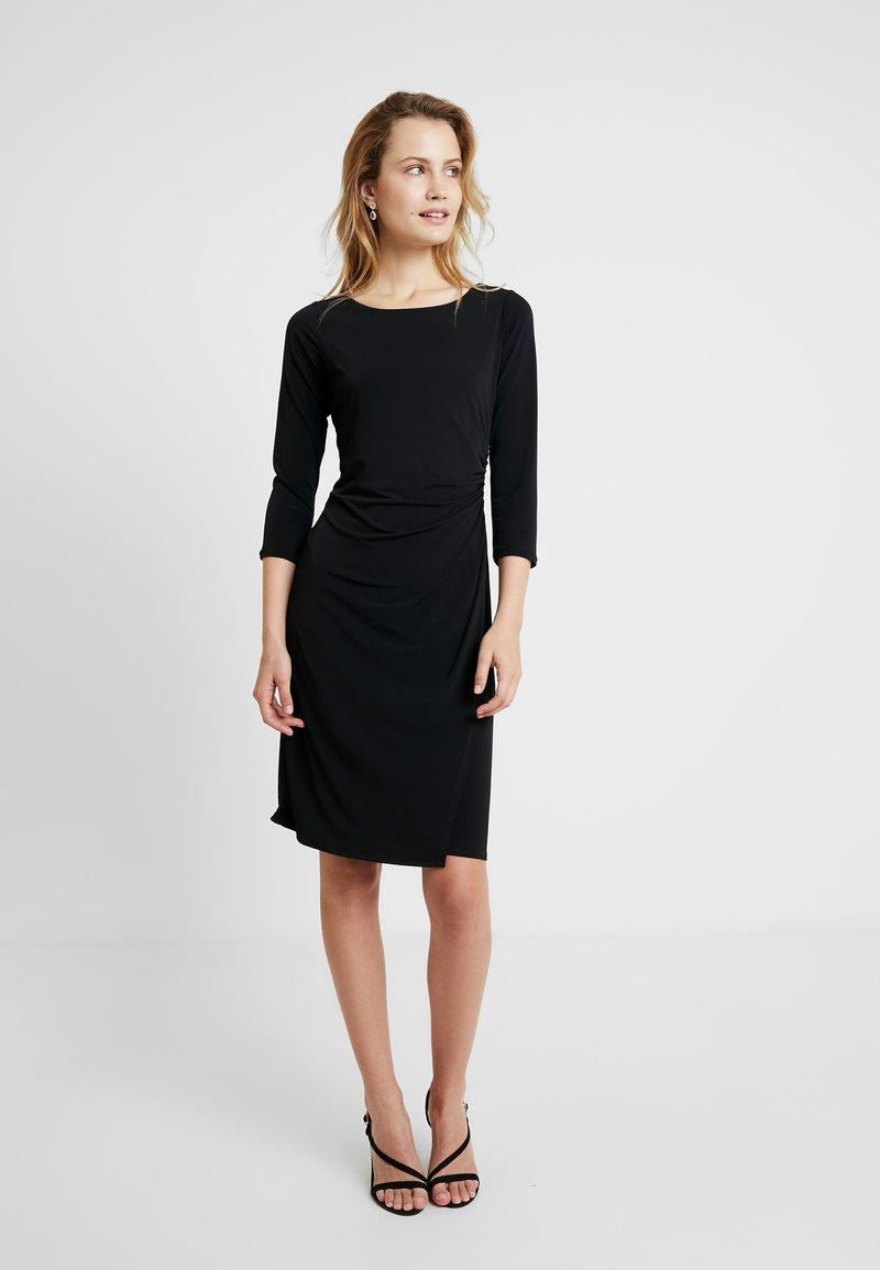 Wallis - BLACK WRAP DRESS - Etuikjoler - black