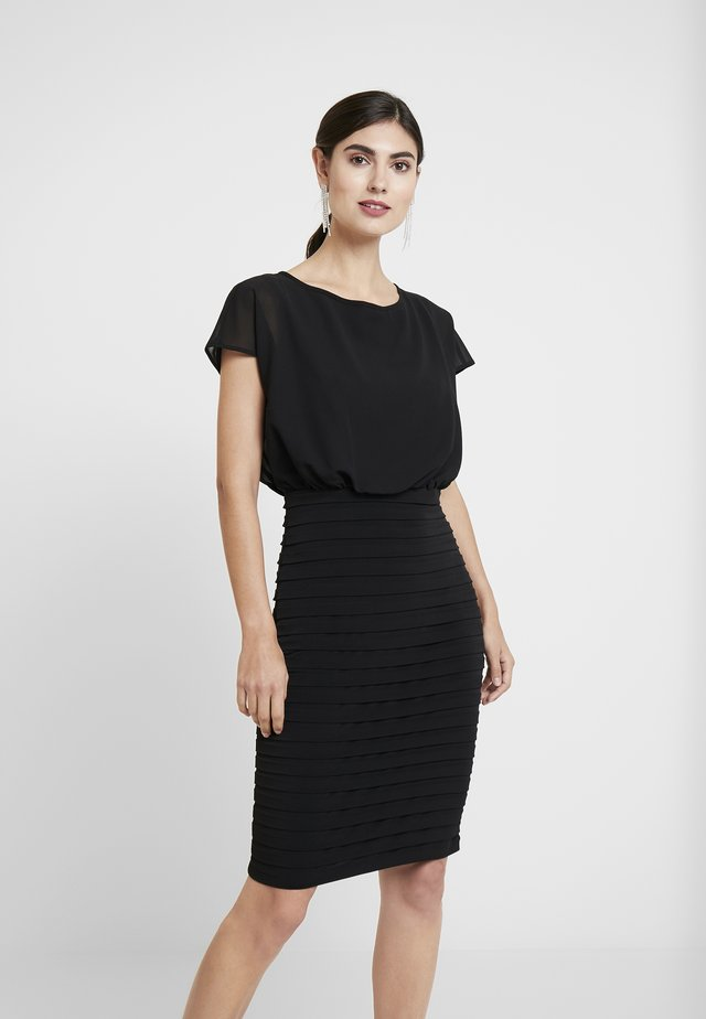 BLOUSON SHUTTER DRESS - Cocktailjurk - black