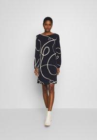 Wallis - SWIRL SPOT SWING DRESS - Day dress - ink - 1