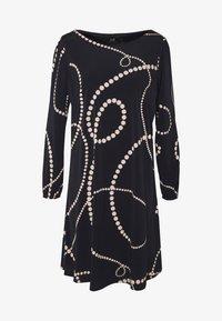 Wallis - SWIRL SPOT SWING DRESS - Day dress - ink - 3