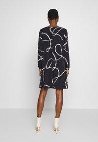 Wallis - SWIRL SPOT SWING DRESS - Day dress - ink - 2