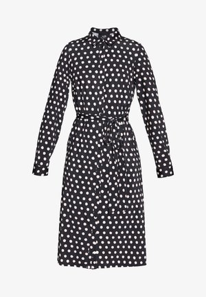 SPOT DRESS - Jerseykleid - black/white