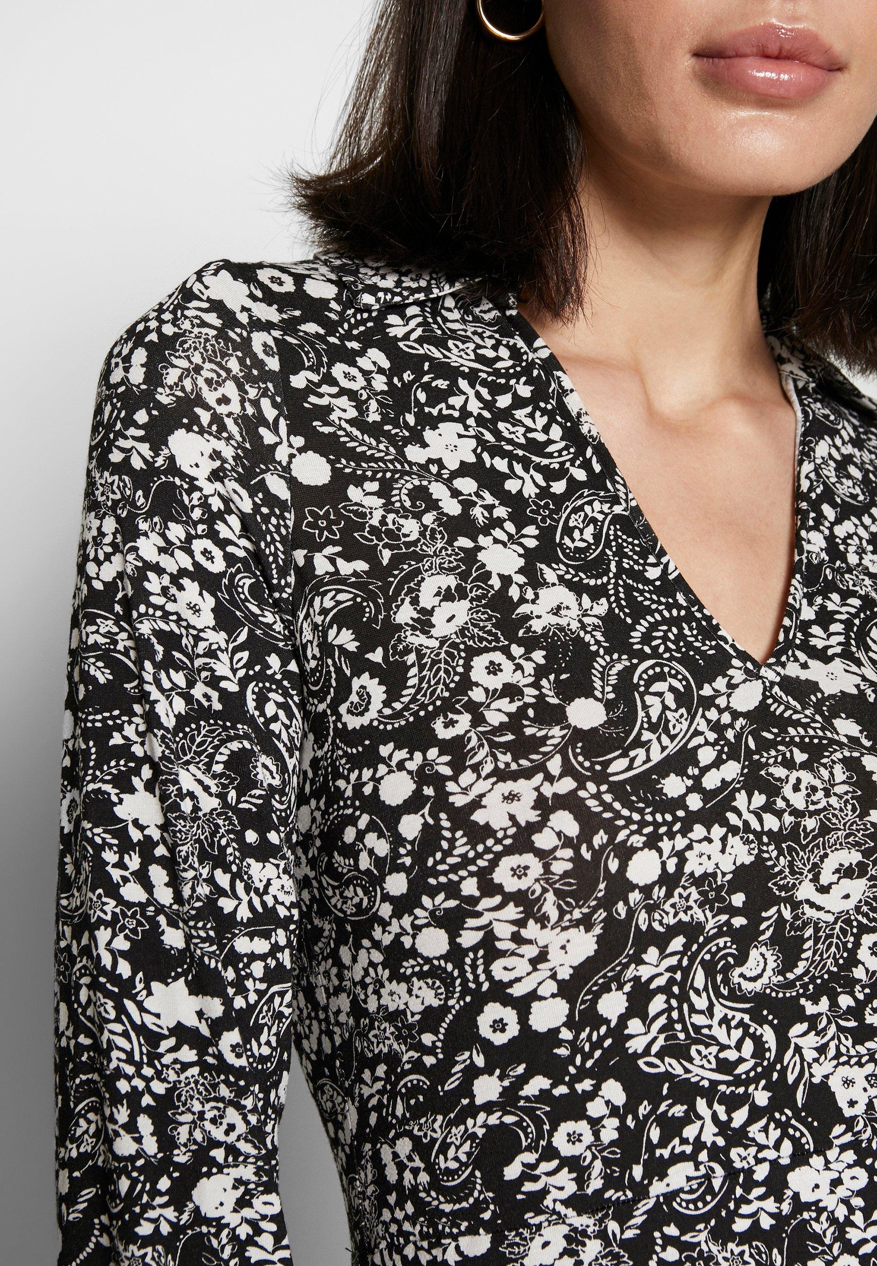 Wallis Mono Paisley Tiered Midi Dress - Jersey