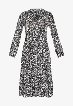MONO PAISLEY TIERED MIDI DRESS - Jersey dress - mono
