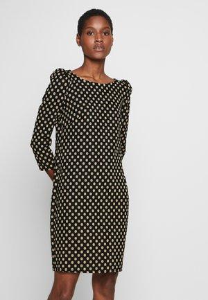 SPOT PUFF SLEEVE DRESS - Sukienka letnia - black
