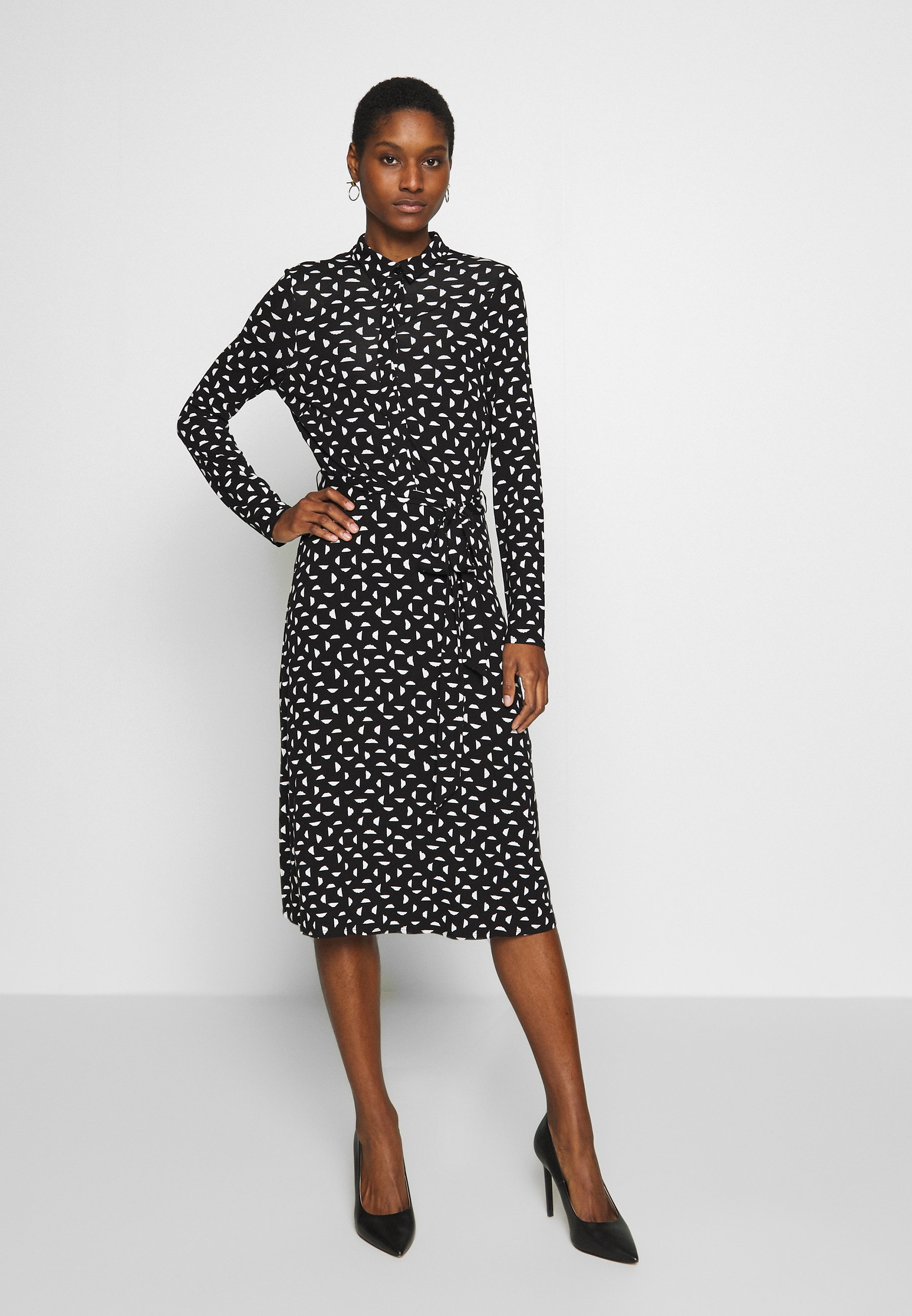 Wallis FAN PRINT DRESS - Sukienka letnia - black/white