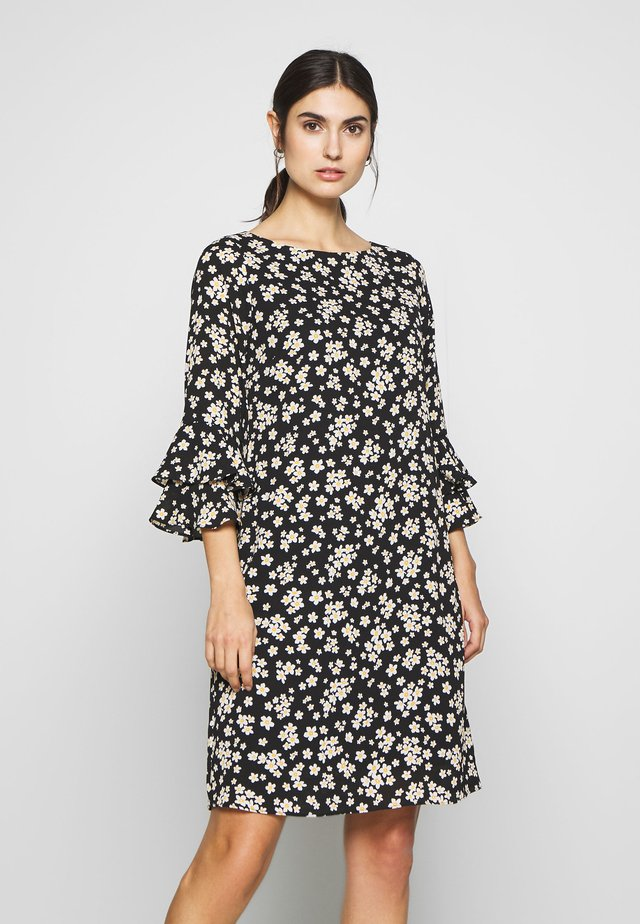 DAISY PUFF SLEEVE DRESS - Vestido informal - black