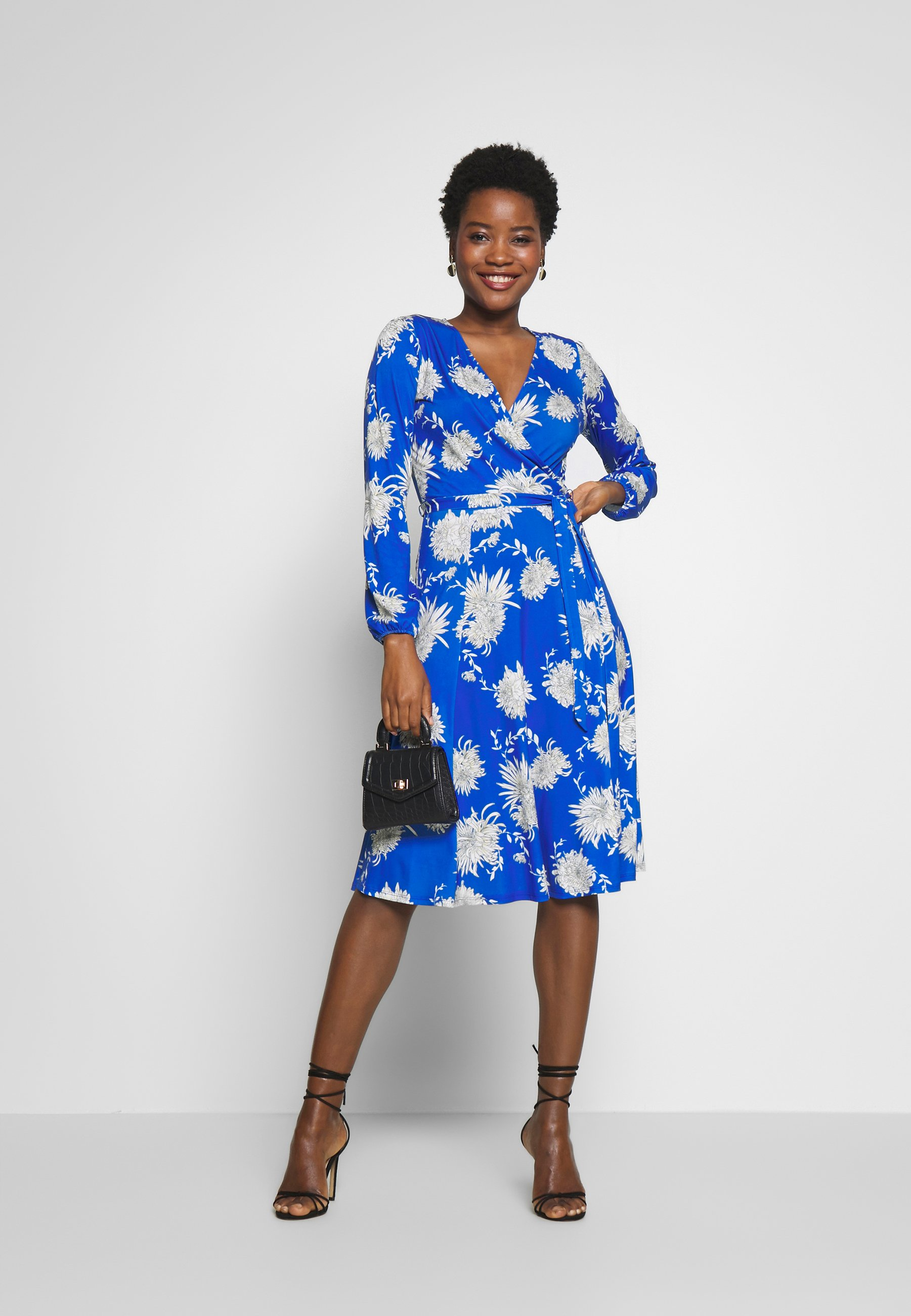 Wallis ORIENTAL BLOUSON WRAP - Sukienka z dżerseju - blue