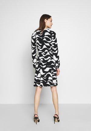 MONO SWIRL WRAP DRESS - Day dress - black/white