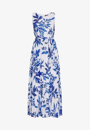 SPRAYED FLORAL PLEAT DRESS - Ballkjole - ivory/blue
