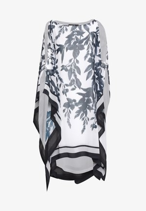 SPRAYED FLORAL STRIPE KAFTAN DRESS - Kjole - mono