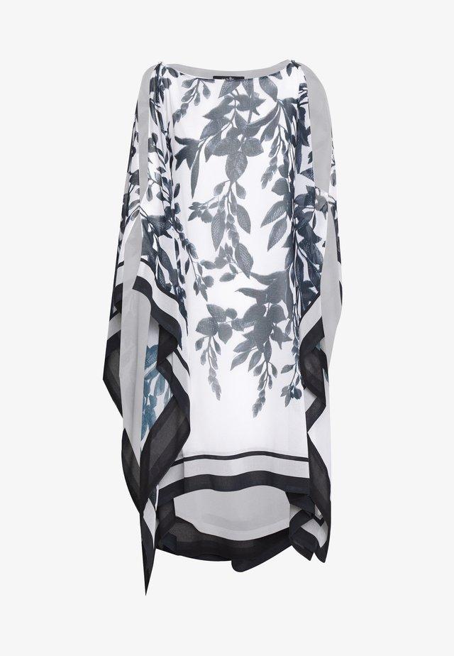 SPRAYED FLORAL STRIPE KAFTAN DRESS - Kjole - mono