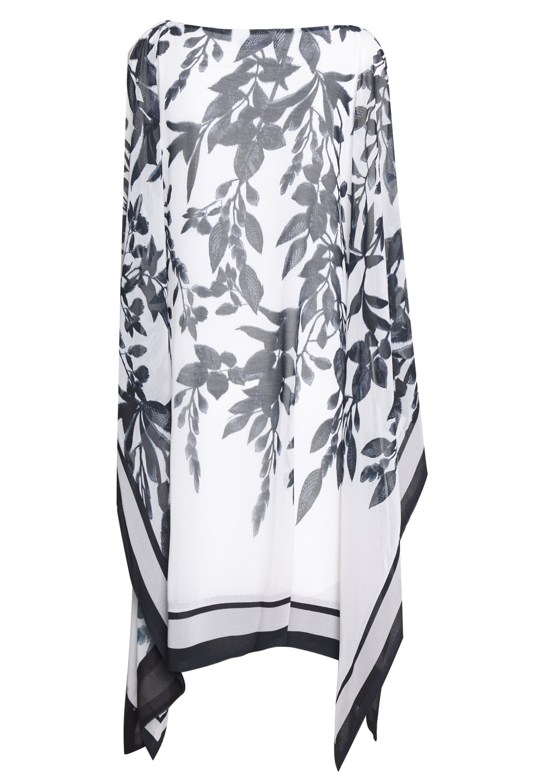 Wallis SPRAYED FLORAL STRIPE KAFTAN DRESS - Sukienka letnia - mono