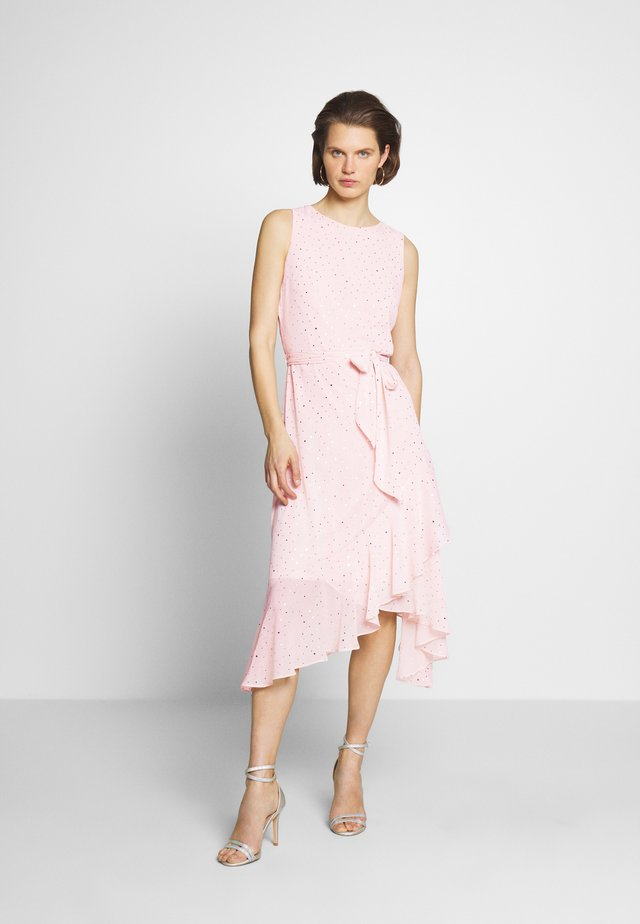 GLITTER TIERED DRESS - Vestido informal - blush