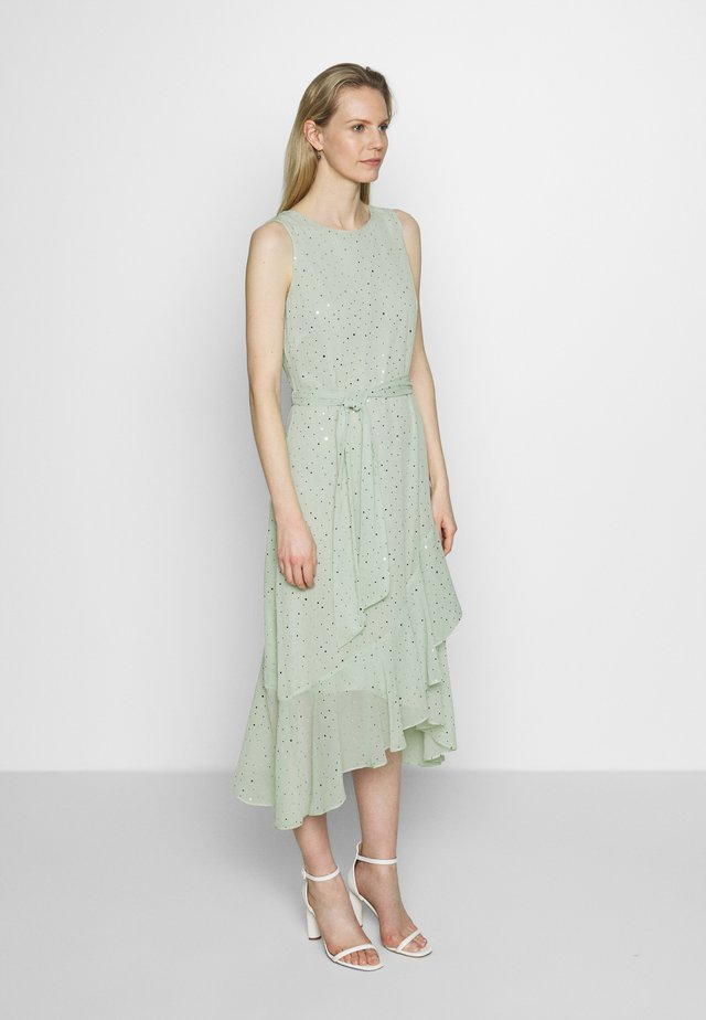 GLITTER TIERED DRESS - Korte jurk - mint