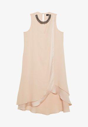 NECK OVERLAYER DRESS - Freizeitkleid - blush