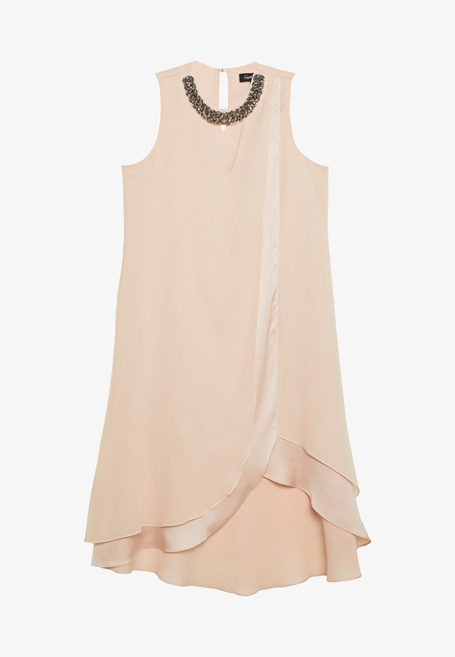 NECK OVERLAYER DRESS - Vestido informal - blush