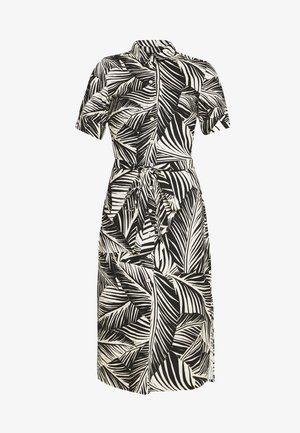 PALM SHIRT DRESS - Shirt dress - black/white