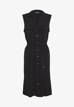 BUTTON POCKET DRESS - Vestito di maglina - black