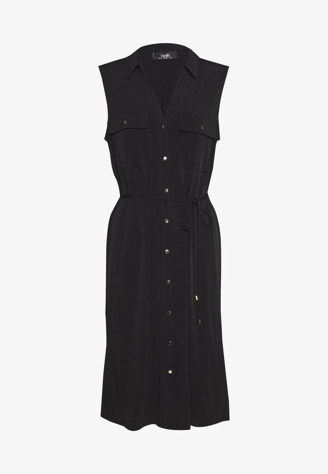 BUTTON POCKET DRESS - Jerseyjurk - black