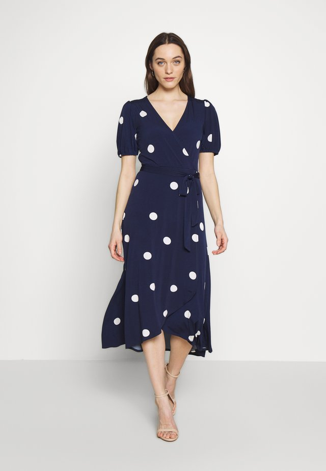 SPOT PUFF SLEEVE DRESS - Jerseyjurk - ink