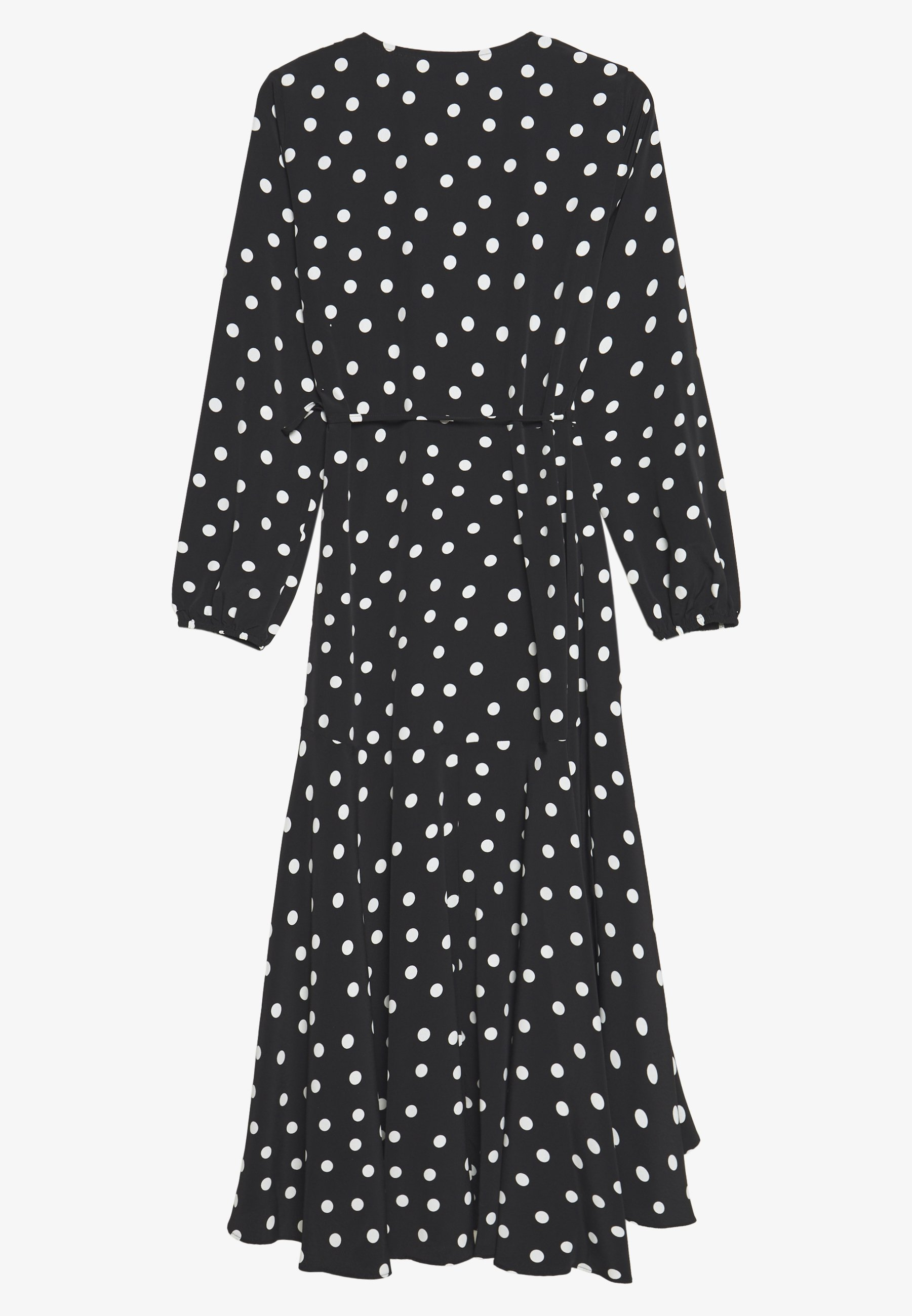 Wallis Spot Midi Wrap Dress - Vardagsklänning Mono