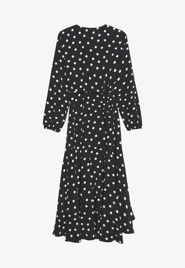 SPOT MIDI WRAP DRESS - Korte jurk - mono