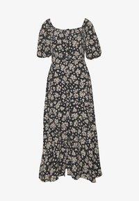Wallis - BOUQUET DITSY SQUARE NECK DRESS - Kjole - black - 0