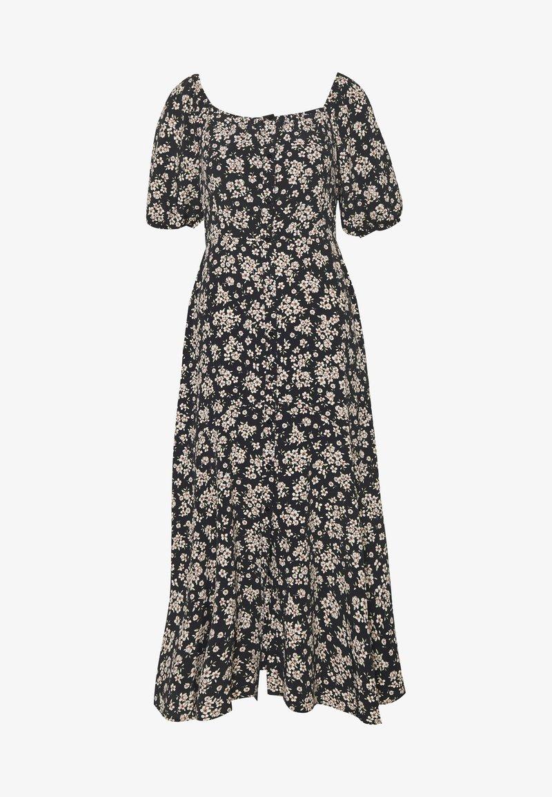 Wallis - BOUQUET DITSY SQUARE NECK DRESS - Kjole - black