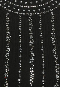 Wallis - KNITTED LINEAR SPARKLE DRESS - Vestido de cóctel - black - 2