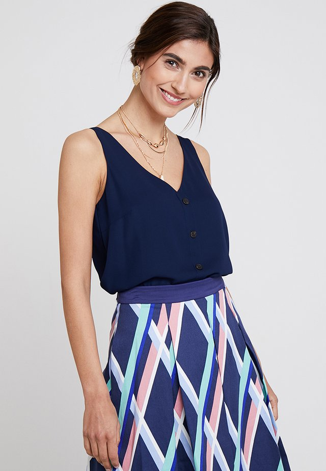 BUTTON THROUGH CAMI - Bluse - dark blue