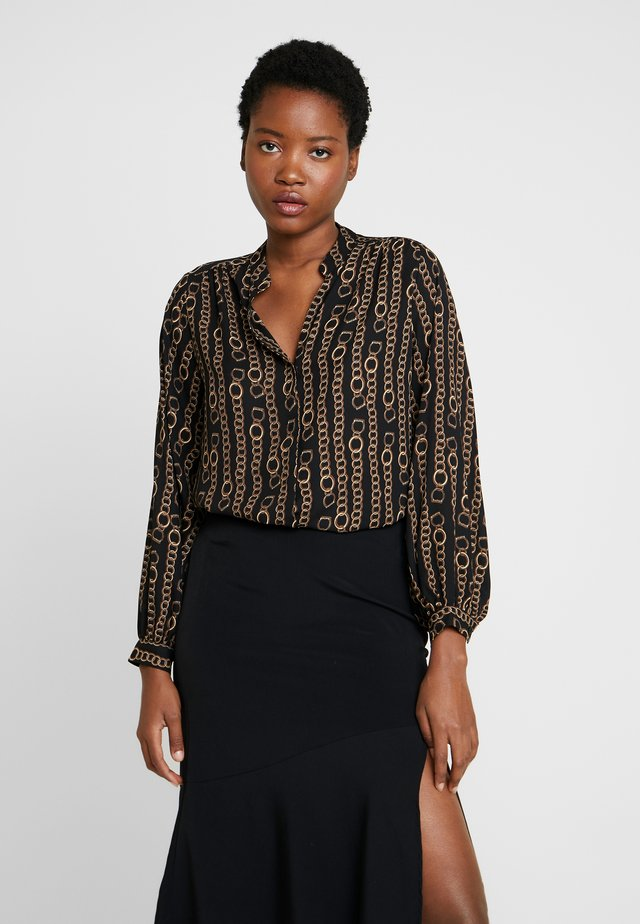 CHAIN PRINT - Blusa - black