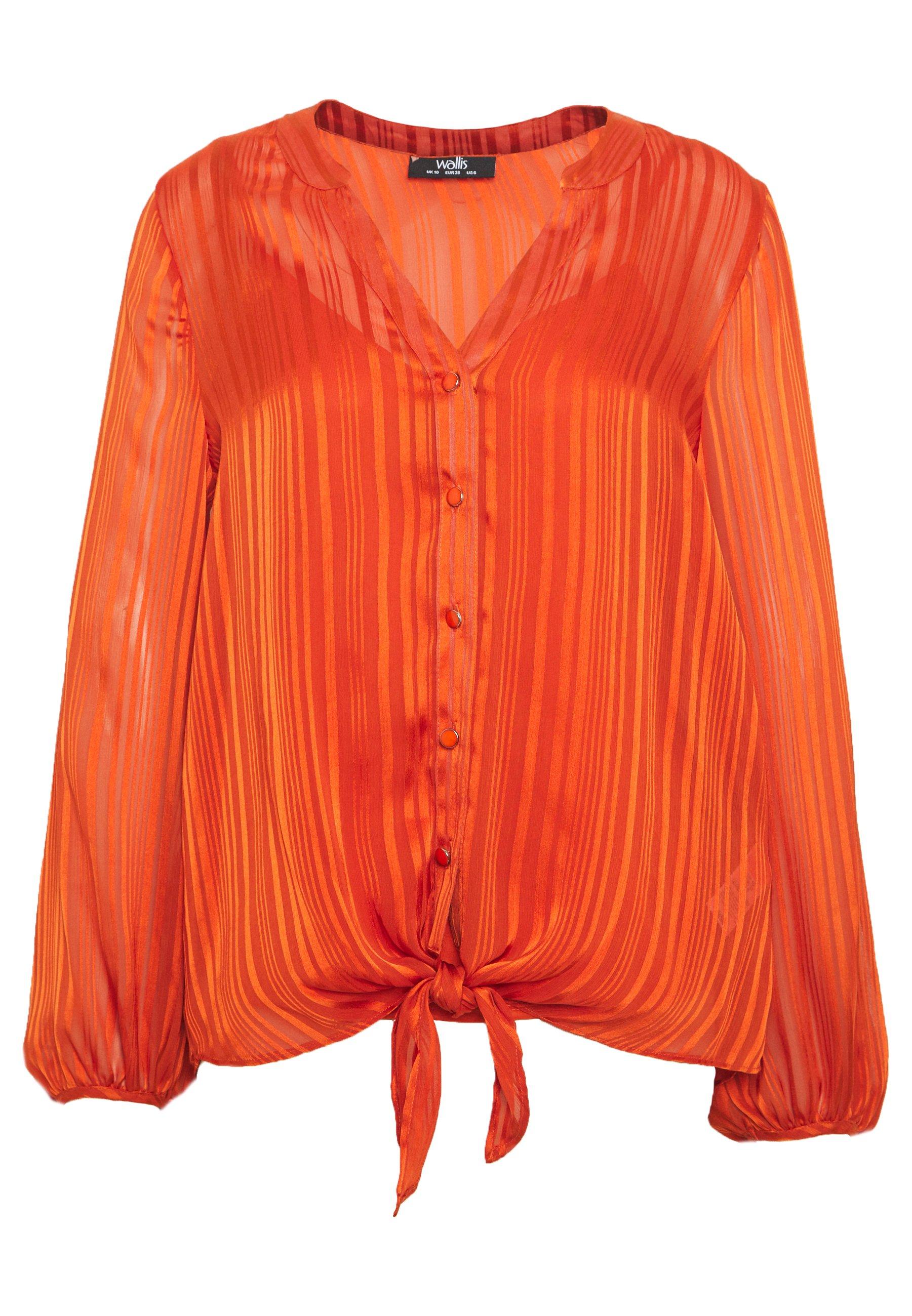 Wallis STRIPE FRONT - Bluzka - orange