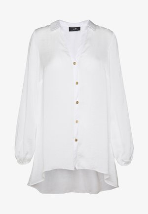 WHITE BUTTON THROUGH SHIRT - Bluse - white