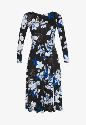 LINEA FLORAL MIDI DRESS - Jersey dress - black