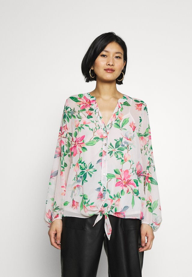 WATERLILY FLORAL TIE FRONT SHIRT - Bluzka - pink