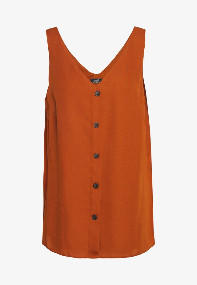BUTTON THROUGH CAMI - Blus - rust