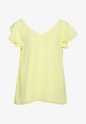 FRILL SLEEVE CAMI - Blouse - lemon