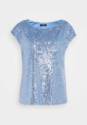 SEQUIN TEE - Blouse - blue