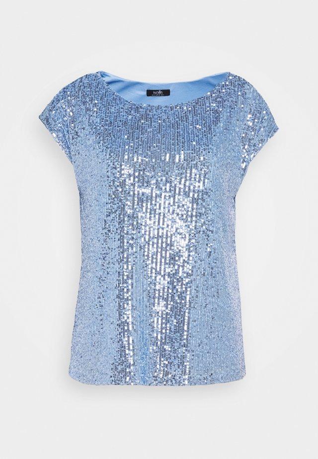 SEQUIN TEE - Bluser - blue