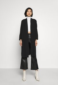 Wallis - TEXTURED PLEAT SLEEVE DUSTER - Lett jakke - black - 0