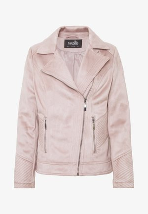 SUEDETTE BIKER - Giacca in similpelle - nude