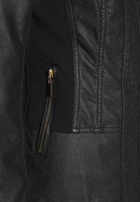 Wallis - PONTE SIDE PANEL - Faux leather jacket - black - 5