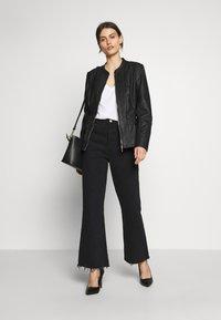 Wallis - PONTE SIDE PANEL - Faux leather jacket - black - 1